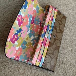 Coach wallet with floral inside design